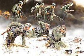 Master-Box German PzGrenadiers Set #2 1939-42 (7) Plastic Model Military Figure 1/35 Scale #3518