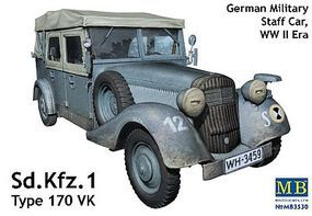 Master-Box WWII German SdKfz 1 Type 170VK Plastic Model Military Staff Car Kit 1/35 Scale #3530