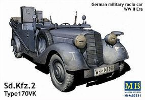 Master-Box Sd.Kfz.2 Type 170VK Plastic Model Military Staff Car Kit 1/35 Scale #3531c