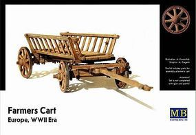 Master-Box WWII Era Europe Farmers Cart Plastic Model Military Wagon Kit 1/35 Scale #3537