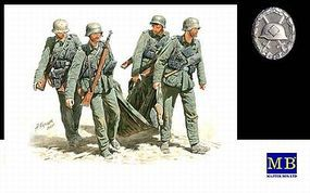 Master-Box German Infantry Stalingrad Summer 1942 (5) Plastic Model Military Figure 1/35 Scale #3541