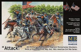 Master-Box 8th Pennsylvania Cavalry 89th Regiment Plastic Model Military Figure 1/35 Scale #3550