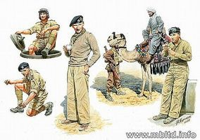 Master-Box Commonwealth AFV Crew with Camel (6) Plastic Model Military Figure 1/35 Scale #3564