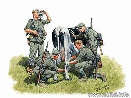 Master-Box WWII German Infantry Milking a Cow Plastic Model Military Figure 1/35 Scale #3565