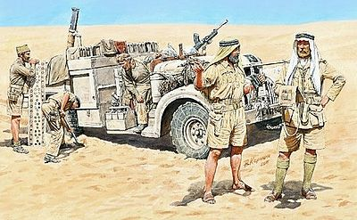 Master-Box WWII Long Range Desert Group (LRDG) (5) Plastic Model Military Figure 1/35 Scale #3598