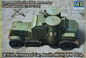 Master-Box WWI Austin Mk IV British Armored Car Plastic Model Military Vehicle Kit 1/72 Scale #72008