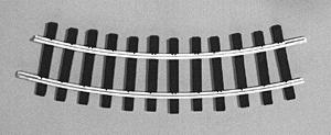 Micro Engineering (bulk of 12) Bulk of 12 G Trak Curved Code 332 Aluminum Rail 2' Radius -- Model Train Track -- G Scale -- #20102