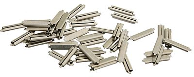 Micro Engineering Code 83 Nickel Silver Rail Joiners (50) -- N Scale Model Train Track Accessory -- #26083