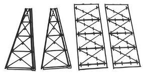 Micro-Engr Tall Steel Viaduct Tower - Two 4-Story Bents Model Train Bridge N Scale #75176
