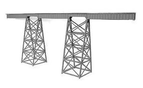 Micro-Engr Tall Steel Viaduct Kit - 320 Long Model Train Bridge N Scale #75519