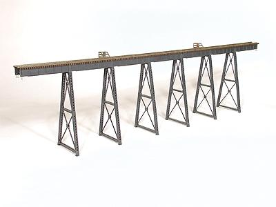 Micro-Engr 210 Tall Steel Viaduct Low Bridge w/Bents Model Train Bridge HO Scale #75550