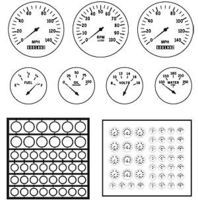 Model-Car-Garage Gauge Bezels Modern Plastic Model Vehicle Accessory Kit 1/24-1/25 Scale #2049