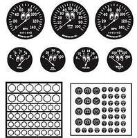 Model-Car-Garage Gauge Bezels Moon Eyes Plastic Model Vehicle Accessory Kit 1/24-1/25 Scale #2051