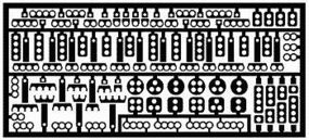 Model-Car-Garage Wire Looms (Photo Etch) Plastic Model Vehicle Accessory Kit 1/24-1/25 Scale #2061