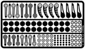 Model-Car-Garage Window Cranks (4 Diff Sets) Plastic Model Vehicle Accessory Kit 1/24-1/25 Scale #2077