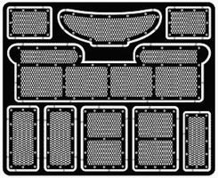 Model-Car-Garage 1996 Thunderbird Stock Car Grille & Duct Works Plastic Model Accessory Kit 1/24 Scale #2100