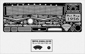 Model-Car-Garage 1956 Chevy Del Ray Detail Set for RMX Plastic Model Vehicle Accessory Kit 1/25 Scale #2235