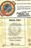 Model-Car-Garage 1/24-1/25 Cast White Metal Brake Calipers (4)