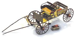 Micro-ArtMicron 1880s Buckboard Wagon w/Horse & Driver Brass Kit (2) HO Scale Model Railroad Vehicle Kit #3023