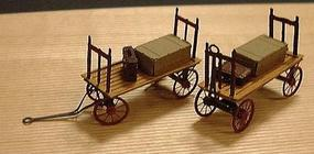 Micro-ArtMicron Baggage carts brass    2/ HO-Scale (2)