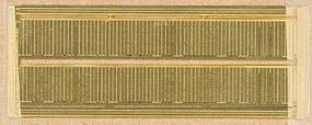 Micro-ArtMicron Photo-Etched Brass Walls - Wood Vertical Board Siding - Fits Medium Windows & Doors (Transitions Included) - Z-Scale