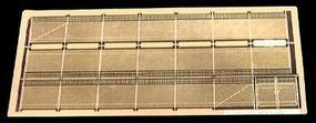 Micro-ArtMicron Fence 6 chain link w/gte - N-Scale