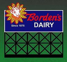 Large Borden's Dairy Animated Neon Billboard Kit HO/O Scale Model Railroad Accessory #1051