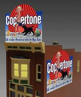 Micro-Structures Coppertone Large Animated Neon Billboard Kit O Scale Model Accessory #1061