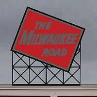 Milwaukee Road Small Animated Neon Billboard Kit HO Scale Model Accessory #1072