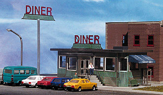 Micro-Structures PARKWAY DINER N Scale Model Railroad Building #160100