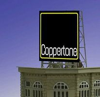 Micro-Structures Coppertone Animated Rooftop Billboard Lattice Support N Scale Model Railroad Sign #338830