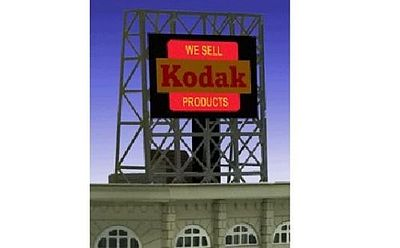 billboard kodak animated rooftop miller engineering railroad structures kit micro scale accessories signs parts hobbylinc