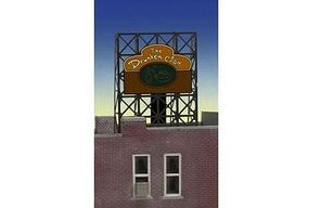 Micro-Structures Drunken Clam Animated Rooftop Billboard Lattice Support N Scale Model Railroad Sign #338885