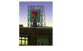 Micro-Structures 7 Eleven Animated Rooftop Billboard Lattice Support N Scale Model Railroad Sign #338910