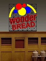 Micro-Structures Wonder Bread Animated Small Billboard HO/N Scale Model Railroad Sign #4062