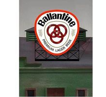 Micro-Structures Ballantine Beer Animated Neon Billboard HO Scale Model Railroad Sign #440502