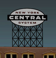 Micro-Structures New York Central System Animated Neon Billboard Kit HO Scale Model Railroad Sign #4581