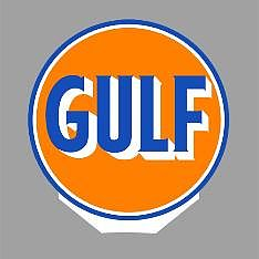 Micro Structures GULF ROTATING SIGN -- O Scale Model Railroad Sign -- #55025