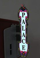 Micro-Structures Large Vertical Theater Sign w/6 Theater Overlays HO Scale Model Railroad Sign #5981