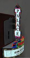 Micro-Structures Theater Animated Sign Combo Kit w/Vertical & Horizontal Signs HO Scale Model Sign #59981