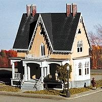 Micro Structures Gothic Revival Victorian Home -- N Scale Model railroad Building -- #605051