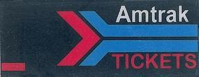 Micro-Structures Amtrak Tickets Animated Wall Sign Left Mount Model Railroad Lighting Kit #64811