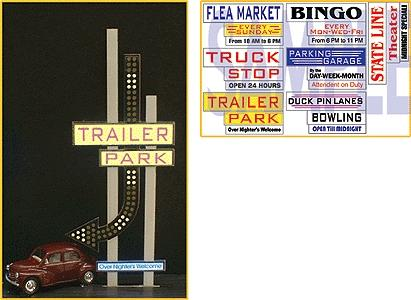 Micro-Structures Medium Left Arrow Animated Multi-Graphic Lighting Kits w/Overlay Model Railroad Lighting #7482