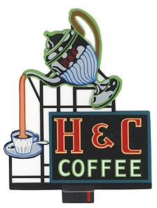 Micro-Structures H & C Coffee Animated Neon Billboard Kit HO Scale Model Railroad Billboard #7881