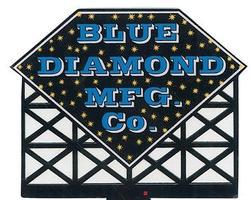 Micro-Structures Blue Diamond Mfg. Co. Animated Neon Billboard Model Railroad Billboard Kit #8581
