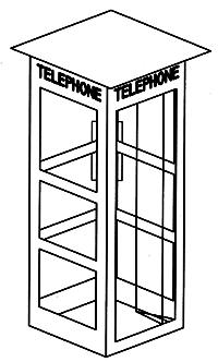 Micro Structures Phone Booth City Detail Kit -- HO Scale Model Railroad Accessory -- #879550