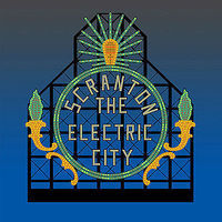 Micro-Structures Scranton Electric City Animated Neon Billboard O Scale Model Railroad Sign #880251