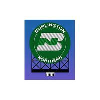 Micro-Structures Burlington Northern Animated Neon Billboard HO Scale Model Railroad Sign #880701