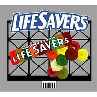 Micro-Structures Life Savers Animated Neon Billboard HO Scale Model Railroad Sign #880851