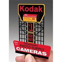 Micro-Structures Kodak Animated Neon Rooftop Billboard HO Scale Model Railroad Sign #880901